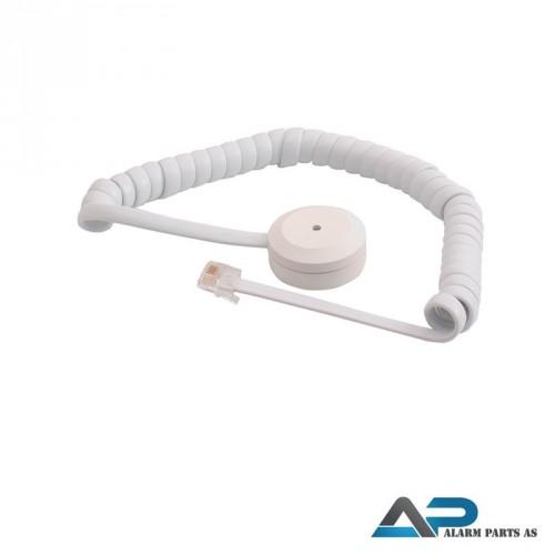 Glassbrudd-detektor transistorutgang spiralkabel
