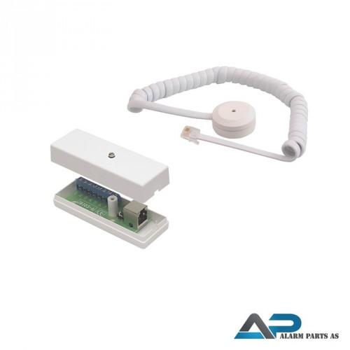 Glassbrudd-detektor piralkabelkabel og koblingsbok