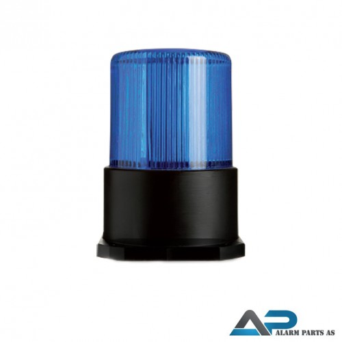 LED Blitzlys med blå linse