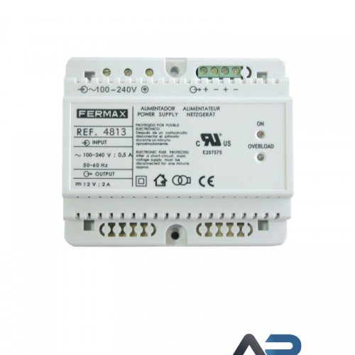 4813 Strømforsyning DIN6 100-240Vac -12Vdc 2A