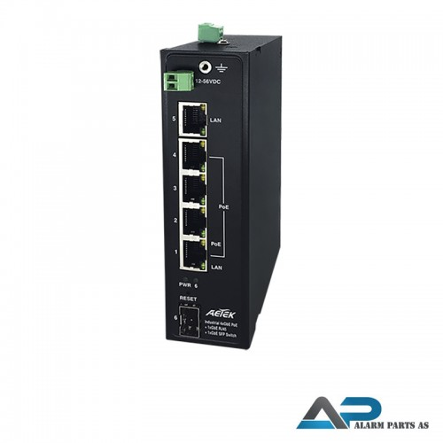 H36-042-30 Industriell PoE switch for 12-56VDC dri