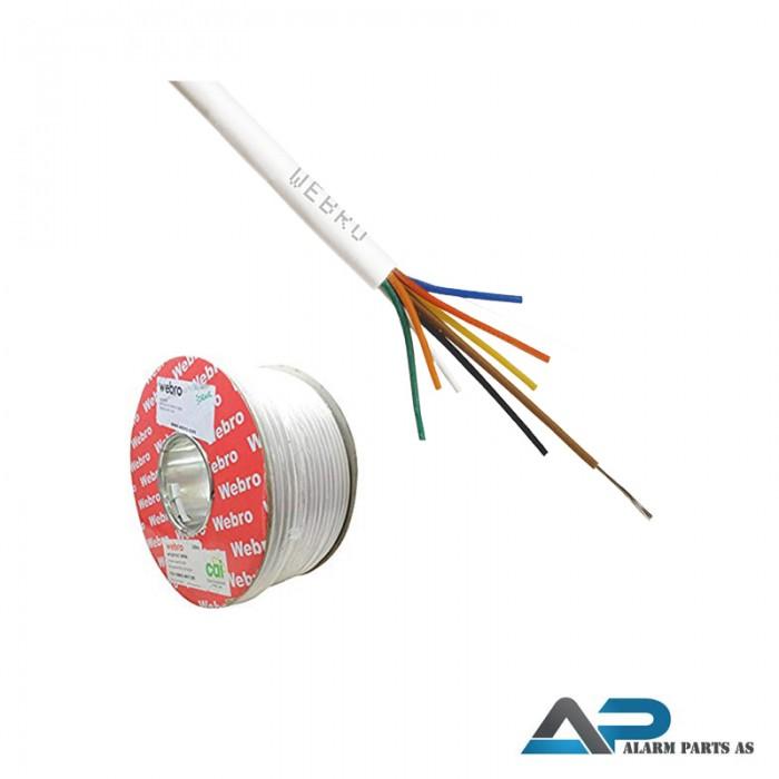 8 leder halogenfri LSNH alarmkabel 100 meter