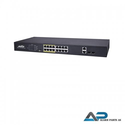 C11-162-31-250 - 16xPoE FE+2xGbE Combo EXPoE Switc