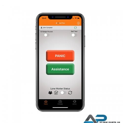 Zonith PA og Lone worker applikasjon